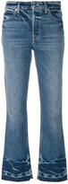 Helmut Lang cropped flared jeans