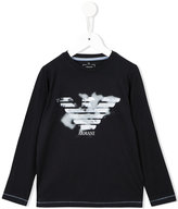 Armani Junior logo print sweatshirt - kids - Cotton/Spandex/Elastane - 4 yrs