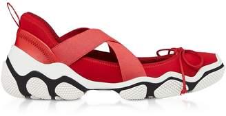 RED Valentino Amarillo Nylon Criss Cross Sneakers