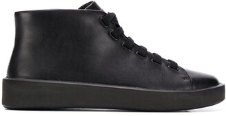 Camper Courb lace-up leather boots