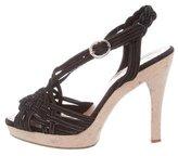 Jill Stuart Suede Multistrap Sandals
