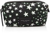 Marc Jacobs Large Biker Flocked Stars Print Cosmetic Case