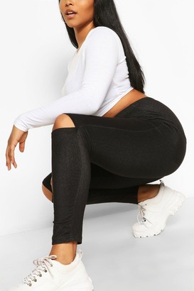 boohoo Plus Split Knee Pocket Basic jeggings