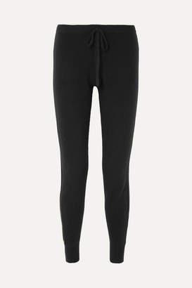 Madeleine Thompson Opera Metallic Striped Cashmere Track Pants - Black