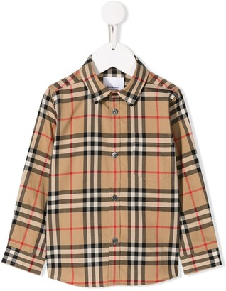 BURBERRY KIDS Checked Shirt