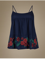 M&S Collection Modal Blend Embroidered Camisole Pyjama Top