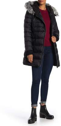 French Connection Belted Waist Quilted Jacket
