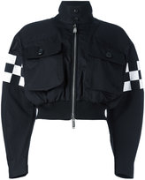 DSQUARED2 checkerboard bomber jacket - women - Cotton - 38