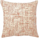 Pehr Designs Persimmon Hatch Pillow - Persimmon
