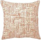 Pehr Designs Persimmon Hatch Pillow - Persimmon
