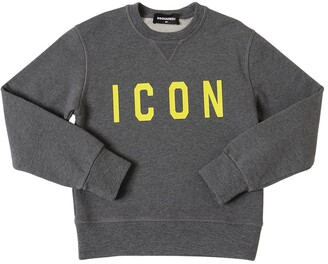 DSQUARED2 Icon Printed Cotton Sweatshirt