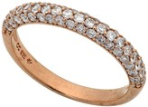 Crislu 18K Rose Gold Plated Sterling Silver 3 Row CZ Pave Ring