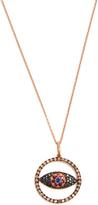 Ileana Makri Diamond, sapphire & pink-gold necklace