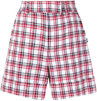 Thom Browne High-Waisted Checked Shorts