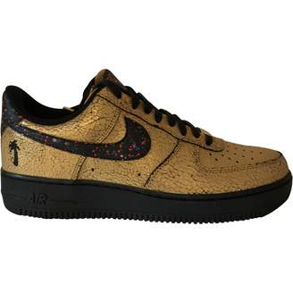 Nike Force 1 Gold Leather Trainers