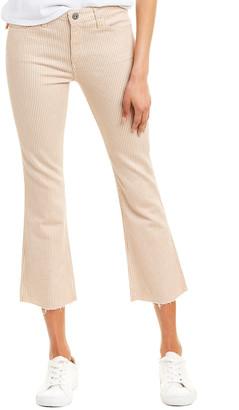 AG Jeans The Jodi Fresh Sand Twiggy Stripe High-Rise Slim Flare Crop
