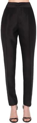 DSQUARED2 High Waist Slim Silk & Wool Pants