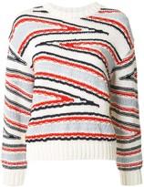 Coohem Club Stripe intarsia knit jumper