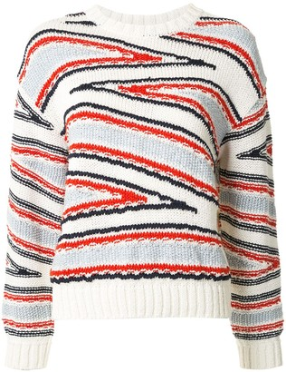 Coohem Club Stripe intarsia knit jumper