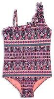 Hula Star Girls' Laser Cut Flower Swimsuit - Sizes 2-6X
