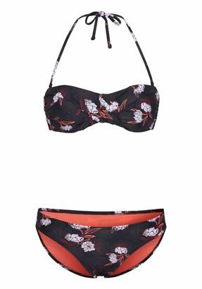 Chiemsee Women's Gemustert mit abnehmbaren Tragern Bikini Top