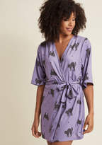 ModCloth You Snooze, You Mews Robe in L/XL