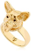 Gold Plated Silver Welsh Corgi Ring