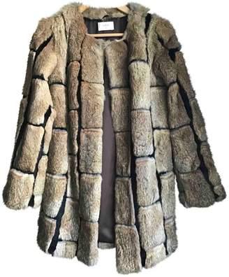 BA&SH Bash Grey Rabbit Coats