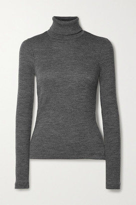 Gold Sign Ribbed Wool-blend Turtleneck Sweater