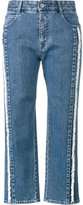 Stella McCartney frayed cropped jeans - women - Cotton/Spandex/Elastane - 26