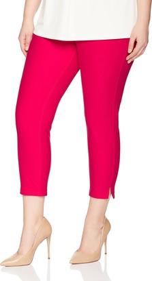 Hue Women's Plus Size Essential Denim Capri Leggings