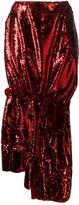 Simone Rocha sequin split seam midi dress