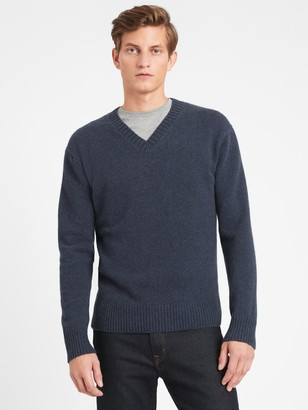 Banana Republic Heritage Recycled Cashmere V-Neck Sweater