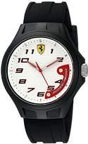 Ferrari 830289 Pit Crew Analog Display Quartz Black Watch