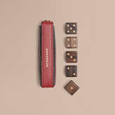 Burberry Grainy Leather Dice Set With Case