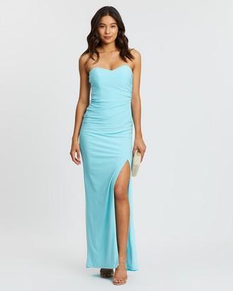 Skiva Strapless Evening Dress with Split