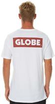 Globe Sticker Mens Tee White