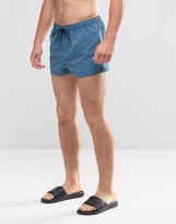 Asos Swim Shorts In Teal Super Short Length