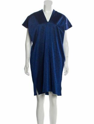MM6 MAISON MARGIELA V-Neck Knee-Length Dress w/ Tags Blue