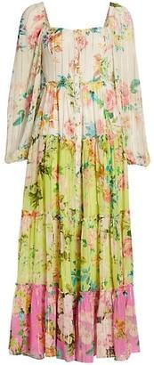 HEMANT AND NANDITA Floral Mix Print Maxi Dress