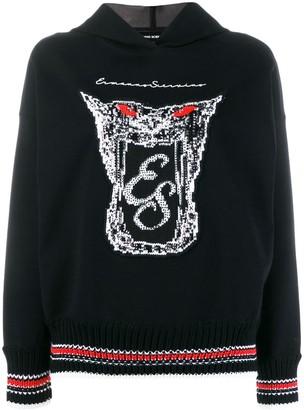 Ermanno Scervino Embellished Logo Print Hoodie