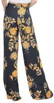 Aribelly Women's Casual Loose Wide leg Pants Palazzo Culottes Stretch Trouser (L, )