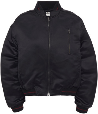 BA&SH Sirius Ruched Satin Bomber Jacket