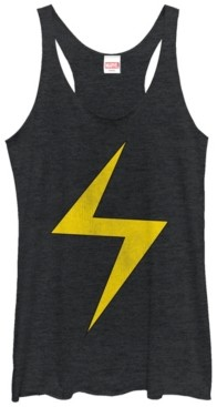 Fifth Sun Marvel Women's Ms. Marvel Women's Lightning Bolt Icon Tri-Blend Tank Top