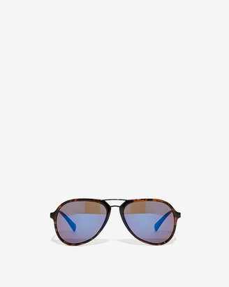 Express Tinted Black Aviator Sunglasses