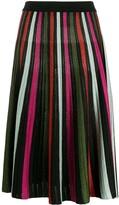 La DoubleJ accordion-knit skirt