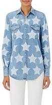 Saint Laurent Women's Denim Western Shirt-LIGHT BLUE