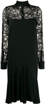 Romeo Gigli Pre Owned 1997 lace panel dress
