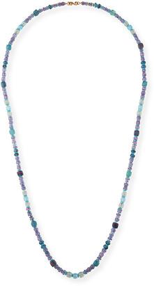 "Splendid Company 18k Long Watercolor Stone Necklace, 38""L"