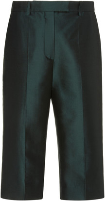 Givenchy Straight-Leg Wool-Silk Bermuda Shorts